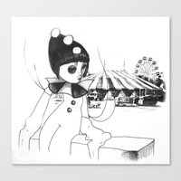Pierrot The Clown Canvas Print
