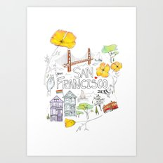 Friends + Neighbors : San Francisco Art Print