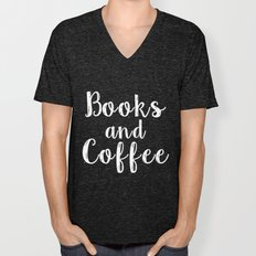 Books And Coffee - Inver… Unisex V-Neck