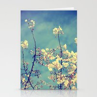 Blossoms On Blue Sky Stationery Cards