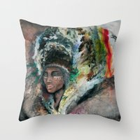 Warrior Portrait Throw Pillow