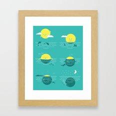 Where the Sun Sets Framed Art Print
