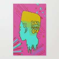 Melt Head Canvas Print