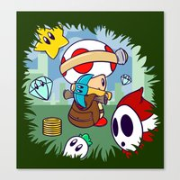 Treasure Tracked: Captain Toad's Fortune (Alt Version: No Text) Canvas Print