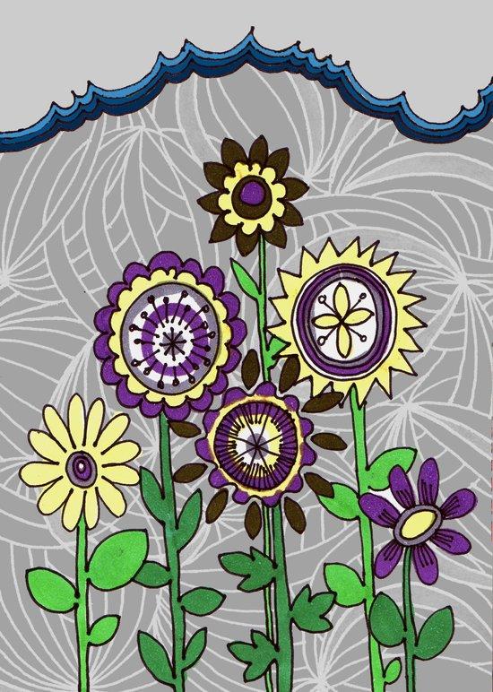 doodle flowers Art Print