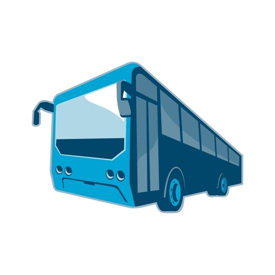 tourist shuttle bus coach retro Art Print