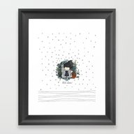 Framed Art Print featuring Little Stars by Erase Una Be