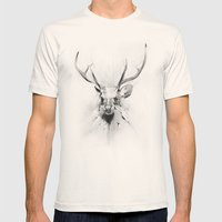 Stag Mens Fitted Tee Natural SMALL