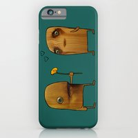 iPhone & iPod Case featuring Wood He Love Me? by Katy Davis
