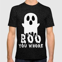 Boo, You Whore! Mens Fitted Tee Tri-Black SMALL