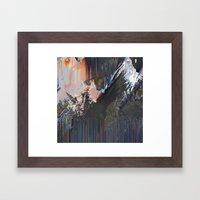Glitched Landscape 1 Framed Art Print