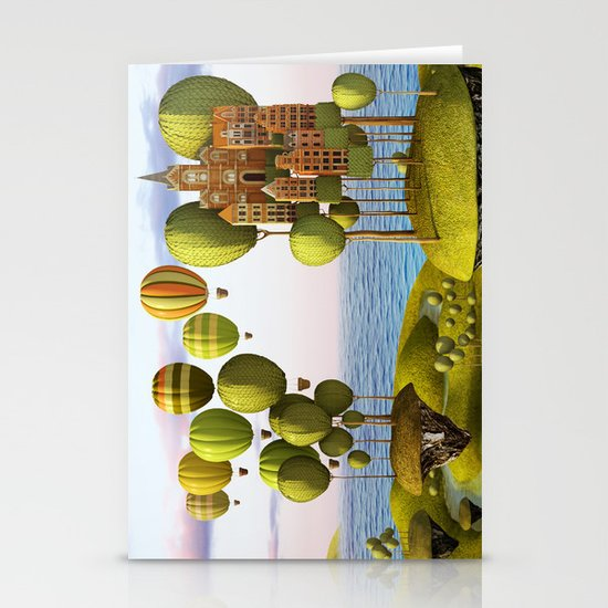 City in the Sky_Lanscape Format Stationery Card