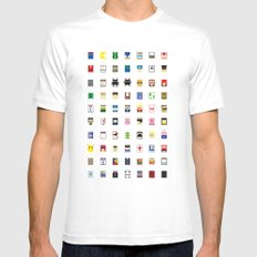 Minimalism beloved Videogame Characters Mens Fitted Tee White SMALL