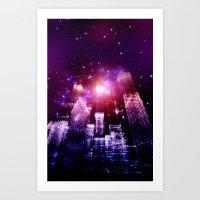 The Future City Art Print