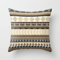 Dusty Aztec Pattern Throw Pillow