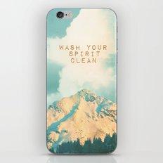 WASH YOUR SPIRIT CLEAN (JOHN MUIR) iPhone & iPod Skin