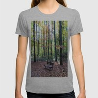 Autumnal Atmosphere Womens Fitted Tee Athletic Grey SMALL