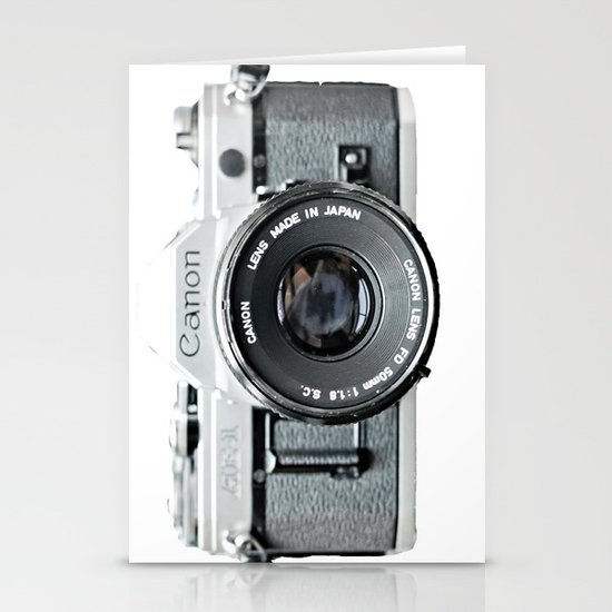 Vintage Camera Phone Stationery Card