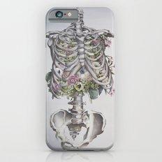 Floral Anatomy Skeleton Slim Case iPhone 6s