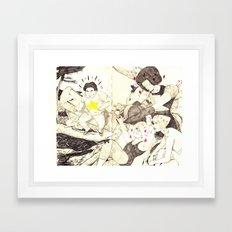 Steven and the Crystal Gems  Framed Art Print