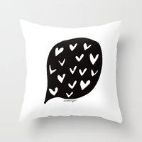 Love Bubble Throw Pillow
