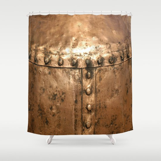 Copper Texture 9354 Shower Curtain by Robin Curtiss | Society6