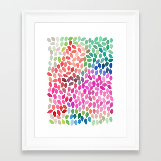 rain 5 Framed Art Print