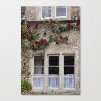 English Garden - Window Canvas Print