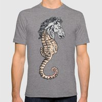 evil horse Mens Fitted Tee Tri-Grey SMALL