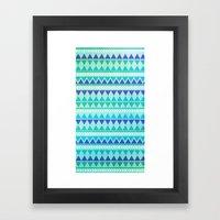 Winter Aztec Pattern Framed Art Print