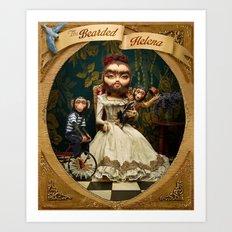 Bearded Helena Art Print
