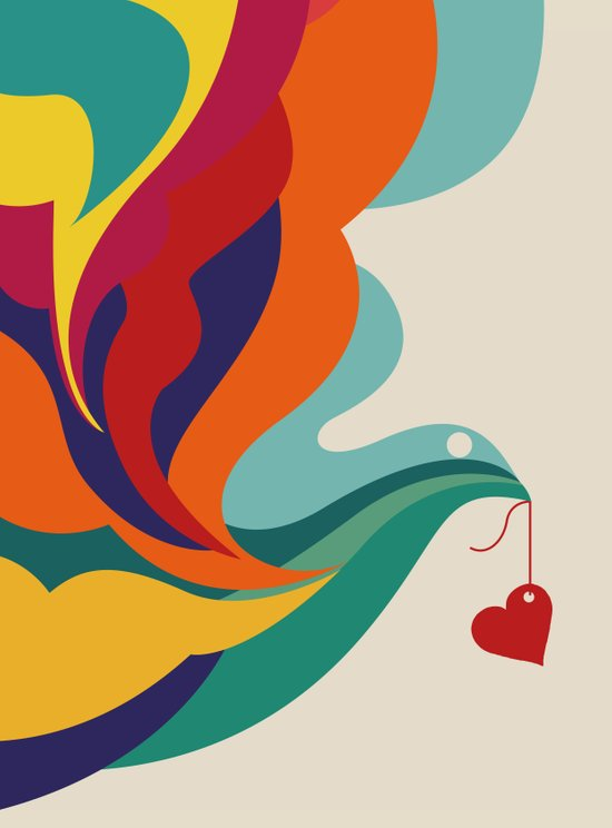 Love Message Canvas Print