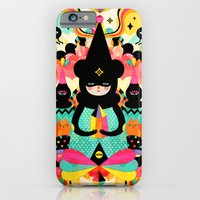 iPhone Cases featuring Magical Friends by Muxxi