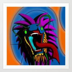 Laughing Dragon Art Print