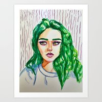 green godess Art Print