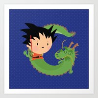 G Is For Goku Art Print