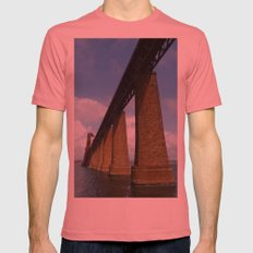 Under the Forth Bridge, Scotland Mens Fitted Tee Pomegranate SMALL