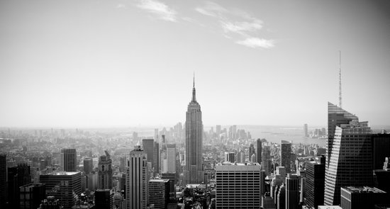 Manhattan - Empire State Building Panorama | B/W Art Print