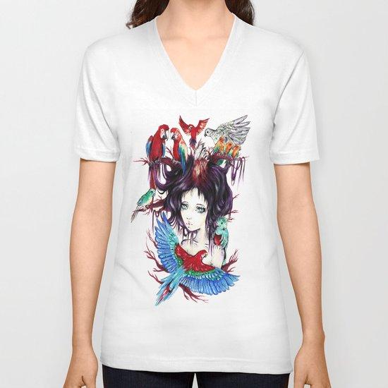 Exotic V-neck T-shirt