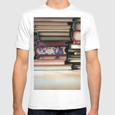 vintage pages White SMALL Mens Fitted Tee