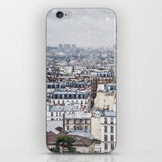 Snowy Paris iPhone & iPod Skin