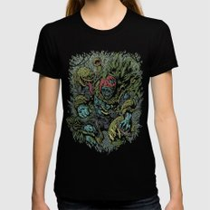 Zombie Vs Plant! Womens Fitted Tee Black SMALL