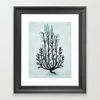 Plant With Blue Flowers Framed Art Print