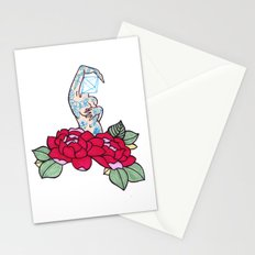pin-up and roses Stationery Cards
