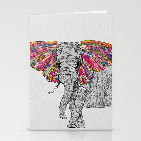 Bella The Happy Butterphant Stationery Card