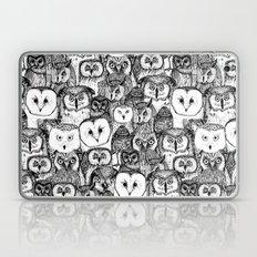 just owls black white Laptop & iPad Skin