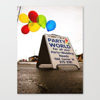 Party World Canvas Print
