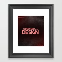 OCD Framed Art Print