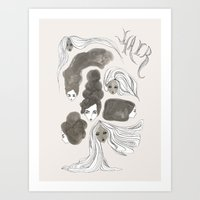 Hair 1 of 3 Art Print