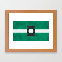 Color Greens Framed Art Print